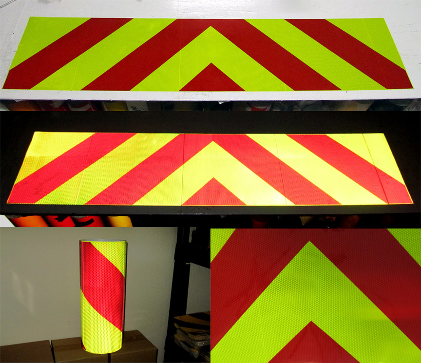 Articles pre striped reflective tapes for barricades and more click to see our reflective aloadofball Gallery