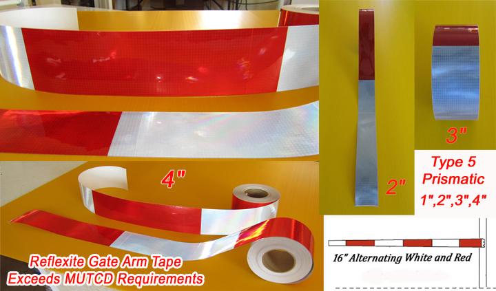 Reflexite Rail Gate Arm Crossing Reflective Tape - PRE